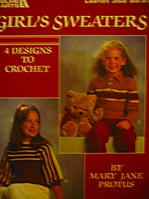 Leisure Arts Girl's Sweaters #362