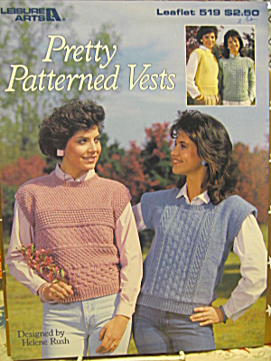 Leisure Arts Pretty Patterned Vests #519