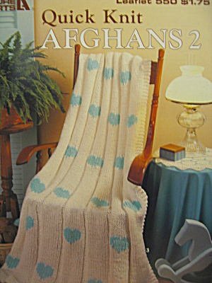 Leisure Arts Quick Knit Afghans 2 #550