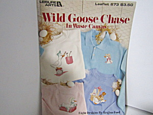 Leisure Arts Wild Goose Chase For Waste Canvas #673