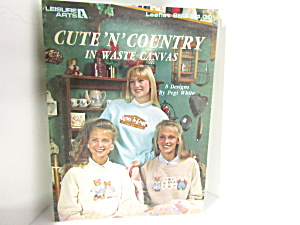 Leisure Arts Cute'n'country In Waste Canvas #963