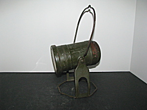 Vintage Army Green Military Hanging Lamp