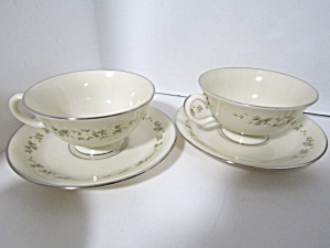 Lenox China Brookdale Cup & Saucer Set