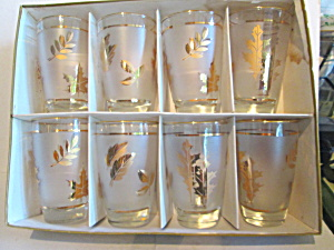 Vintage Libbey Golden Foliage Beverage Glasses