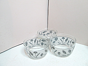 Vintage Libbey Silver Wheat Fruit Bowls