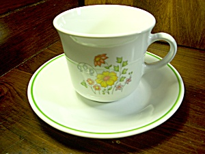 Vintage Corning Corelle Meadow Cup And Saucer