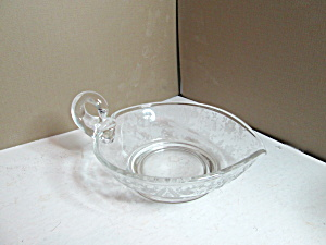 Vintage Fostoria Embossed One Handled Nappy