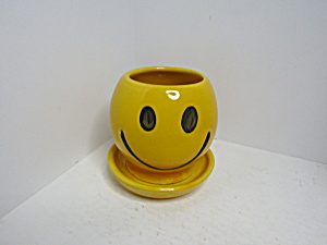 M&m Mccoy Usa Yellow Planter W/underplate