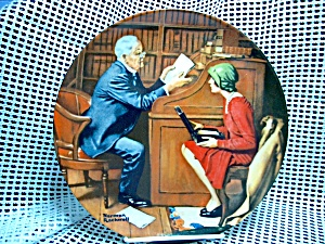 Rockwell's Tenth Heritage Series Plate The Professor