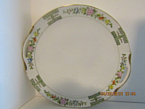 Vintage Floral Nippon Hand Painted Cake Plate