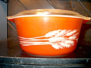 Vintage Pyrex Autumn Harvest Covered Casserole