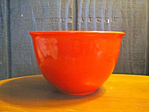 "Vintage Orange Pottery 7"" Mixing Bowl"