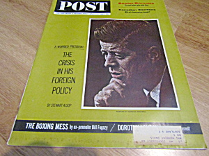 Vintage Magazine Saturday Evening Post April 6, 1963