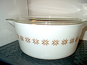Vintage Corning Pyrex Town And Country Casserole 1 Qt