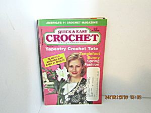 Vintage Craft Booklet Quick & Easy Crochet Mar/apr 1996
