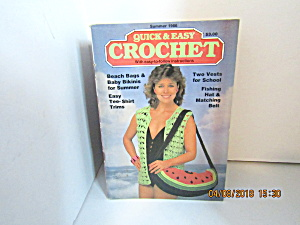 Vintage Craft Booklet Quick & Easy Crochet Summer 1986