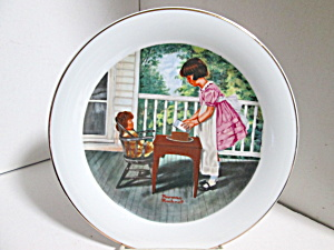 Lego Collector Plate Rockwell Painting Party Time