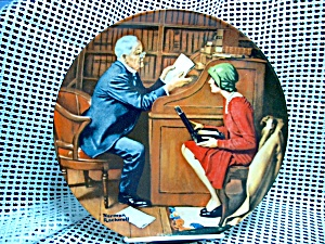 Rockwell Limited Edition Plate The Professor