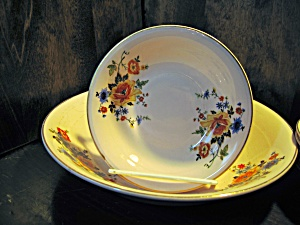 Royal Beige Ware Salad Set By Royal China Co.