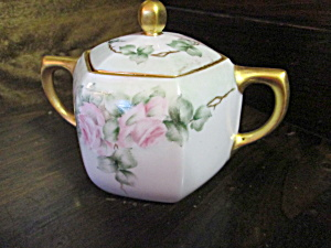 Vintage Rs Germany Hand Painted Sugar Bowl