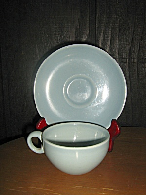 Russel Wright Iroquois Casual Blue Cup & Saucer Set