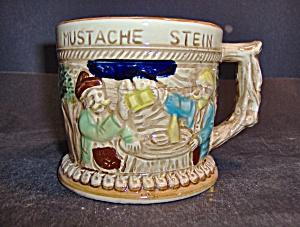 Vintage Apex Japan German Like Mustache Stein