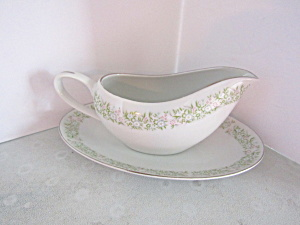 Taihei Fine China Springtime Underplate & Gravy Boat