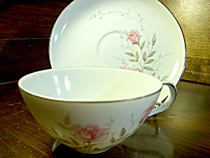 Towne China Roselle Cup And Saucer