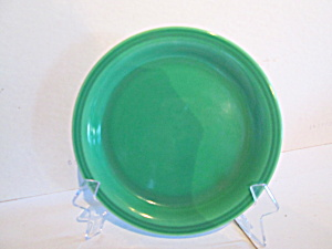 Vintage Unmarked Bright Green Bread Plates