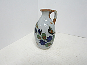 Vintage Mexico Minia Ture Handled Pitcher Jug