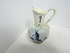 Vintage Blue & White Delph Blue Holland Mini Pitcher