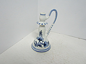Vintage Blue & White Delph Blue Mini Candle Stick/vase