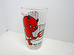 Vintage Pepsi Collector Glass Hot Stuff