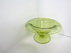 Vintage Green Rolled Edge Embossed Console Bowl