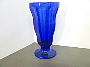 Vintage Anchor Hocking Cobalt Blue Sundae Glass Goblet