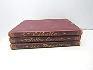 Vintage Rare Three Book Set By Shakespeare