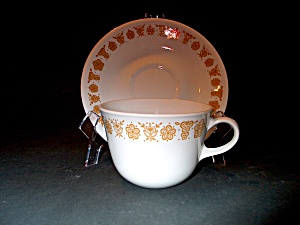 Vintage Corelle Butterfly Gold Cup And Saucer Set