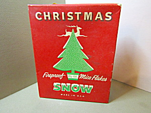 Vintage Fireproof Mica Flakes Christmas Snow