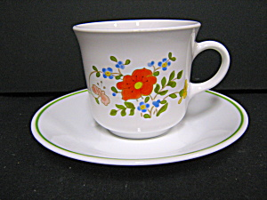 Vintage Spring Bouquet/wildflower Coffee Cup & Saucer