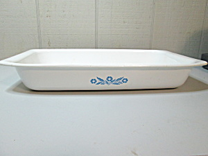 Vintage Corning Cornflower Blue Large Roaster/baker