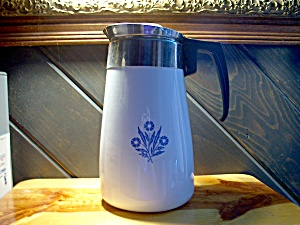Vintage Corning Ware Coffee Pot Cornflower Blue