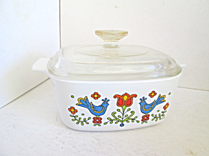 Vintage Corning Ware Country Festivalcovered Casserole