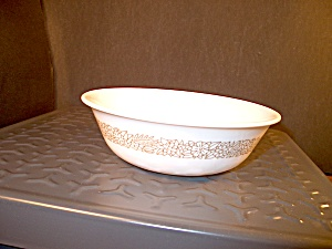 Vintage Corelle Woodland Brown Dessert Bowl