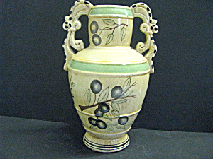Mediterranean Collection Double Handled Vase
