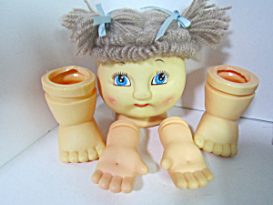 Darice Dolls Sleep & Awake Doll Head Hands Feet Set