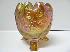 Vintage Northwood Marigold Rose Bowl