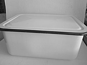Vintage Enamelware Rectangle Refrigerator Storage Pan