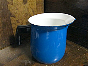 Metal Ware Blue/white Enamel 1 Quart Pitcher