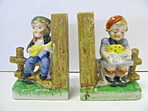 Musical Boy & Girl Childrens Book Ends
