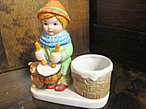 Vintage Noel Drummer Boy Candle Holder